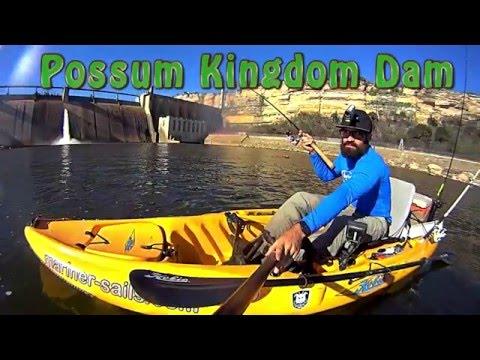 Brazos River, Kayak Fishing, Possum Kingdom Dam. YMP, Texas Dam Fishing Series: Episode 2