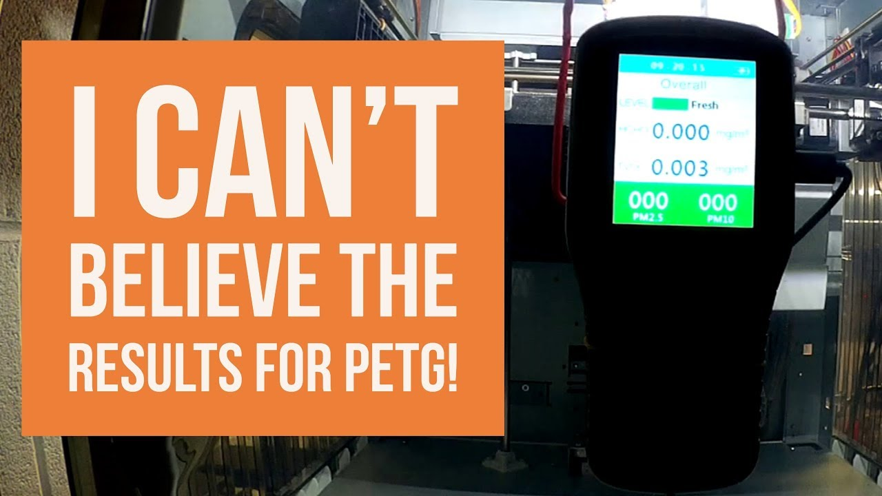 3D Print Air Quality – PETG -vs- ABS and the Results are