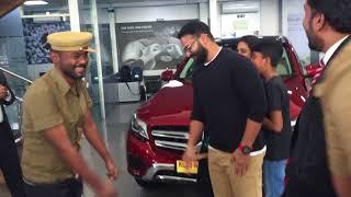 Jayasurya Mercedes Benz- surprise delivery ceremony by Benz staff...
