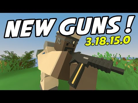 Unturned - NEW GUNS! HK UMP and AA-12 Auto-Shotgun - Update 3.18.15.0