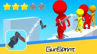 Gun Sprint Walkthrough shooting run game! Recommend index three stars