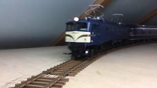 EF58牽引20系ブルートレイン OJゲージ鉄道模型