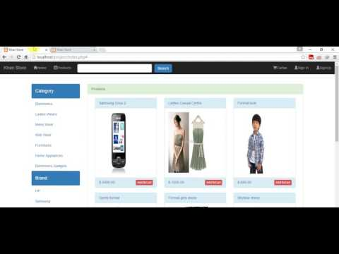Shopping Cart Tutorial-Bootstrap PHP Mysqli Jquery-Ajax Part 4
