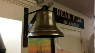 LL260 Japan ship bell brass antique