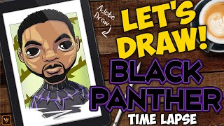 Let's Draw - Marvel's Black Panther - Adobe Draw Time-Lapse