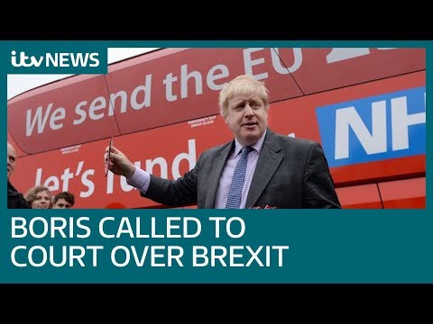 Boris Johnson ordered to court over 2016 Brexit comments | ITV News