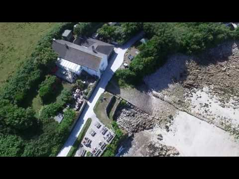 Drone View ,The Turks Head ,St Agnes ,IOS made by scilly quilling