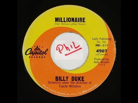 Billy Duke - Millionaire  - CAPITOL - POPCORN for DANCER