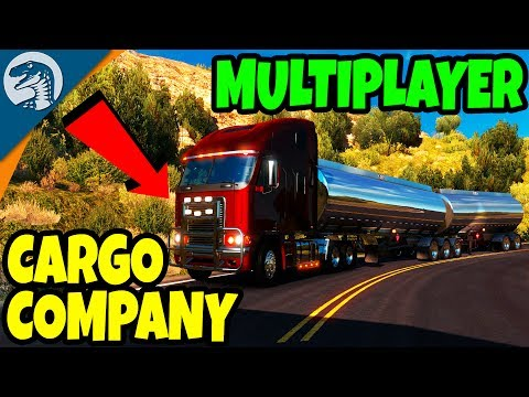 CROSS COUNTRY CARGO COMPANY & MANY DRIVERS | America Truck Simulator Multiplayer Gameplay