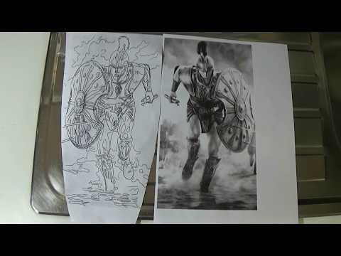 Trojan Warrior Realism Tattoo - education how to tattoo.