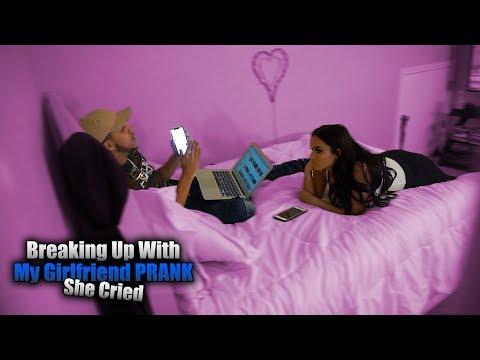 Break Up Prank On Girlfriend ( She Cried!! )