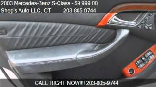 2003 Mercedes-Benz S-Class S430 4MATIC - for sale in Naugatu