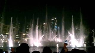 Dubai Fountain - Thriller by Michael Jackson HD - Burj Khalifa - Dubai Mall