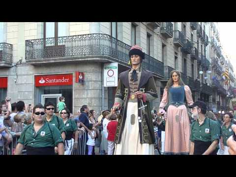 La Merce Festival Parade of Giants Placa de Sant Jaume 3