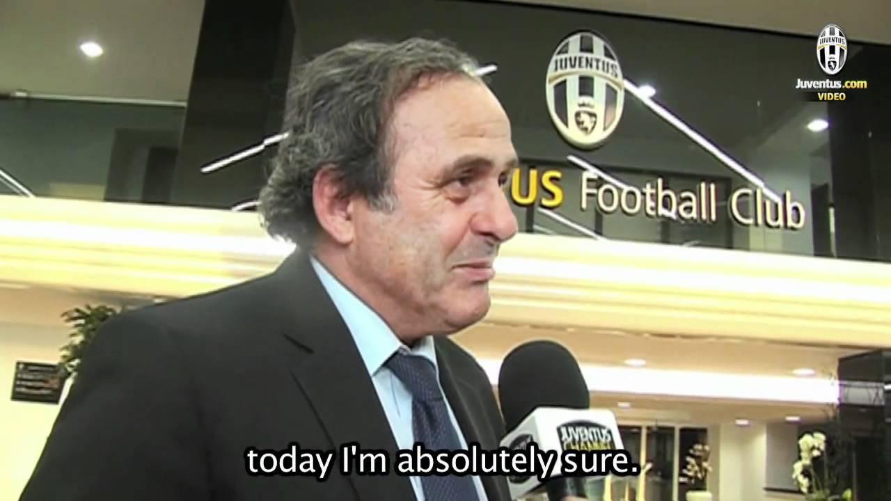 Michel Platini allo Juventus Stadium Michel Platini at Juventus