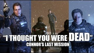 "DBH - Connor Tells Captain Allen ""Androids Don't Die"" (All Dialogue) - Connor's Last Mission"