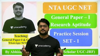 Research Aptitude Practice Session Part - 1 General Paper -1 NTA UGC NET SET