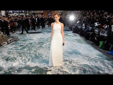 Emma Watson Walks on Water at the Noah Premiere | Fashion Flash