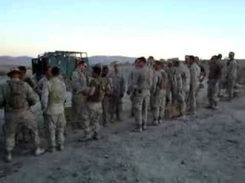 US Marines sing: Build Me Up Buttercup