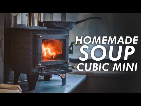 Homemade Soup ASMR on the Cubic Mini Wood Stove // 13ft Scamp Trailer