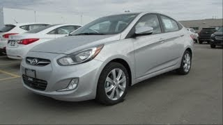 2013 Hyundai Accent GLS AUTO Start up, Walkaround and Vehicle Tour
