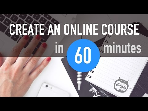 How to create an online course in 60 minutes (Tutorial) Mp3