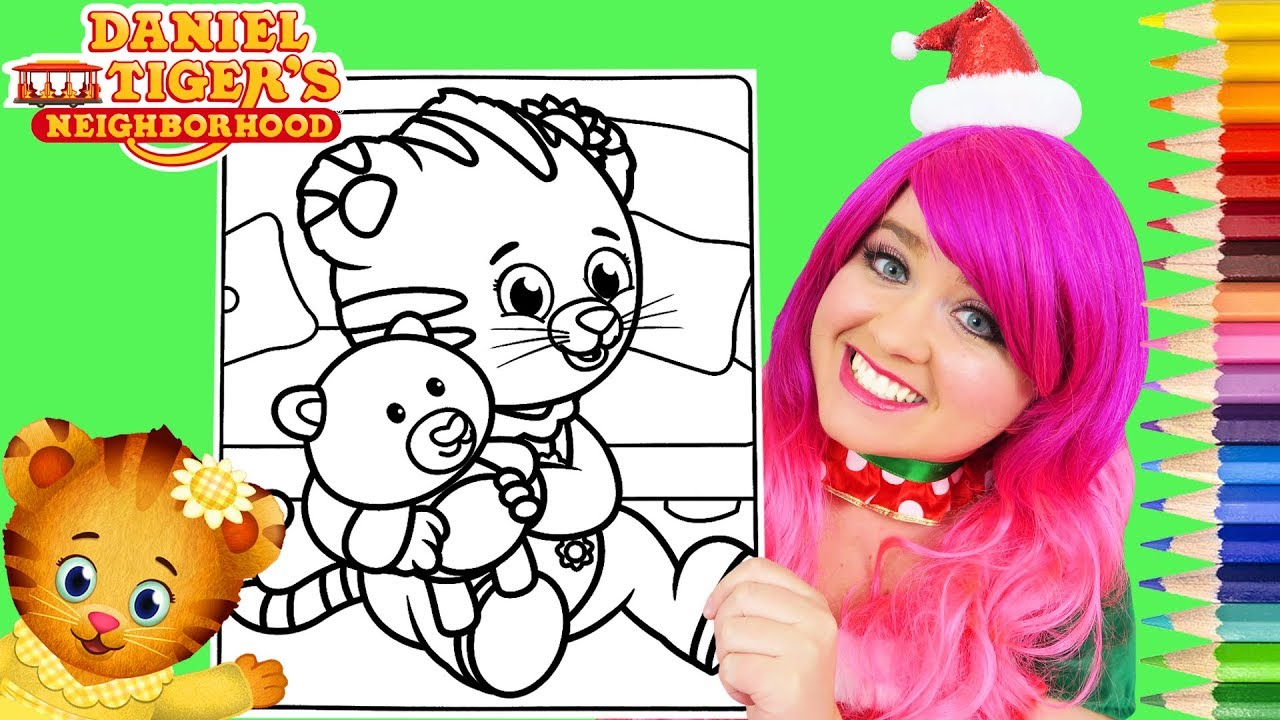 Coloring Daniel Tiger Margaret Baby