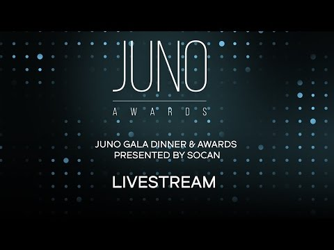JUNO Gala Dinner & Awards presented by SOCAN LIVESTREAM | Saturday, April 1 at 6 PM