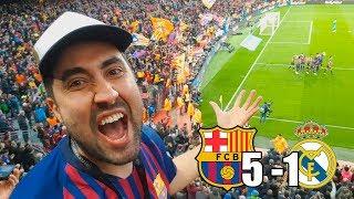 BARCELONA vs REAL MADRID | REACCIÓN EN EL ESTADIO! | El Clásico
