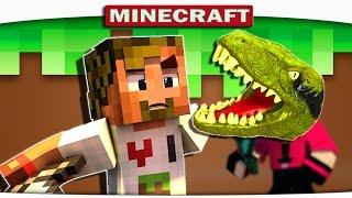 ч.04 - ЖЕСТОКОЕ НАПАДЕНИЕ ДИНОЗАВРА - Подземные приключения Minecraft CRAZY HG