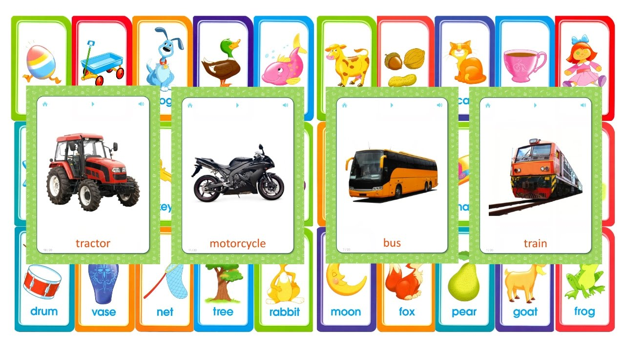 flashcards for kids transportation help your child learn basic