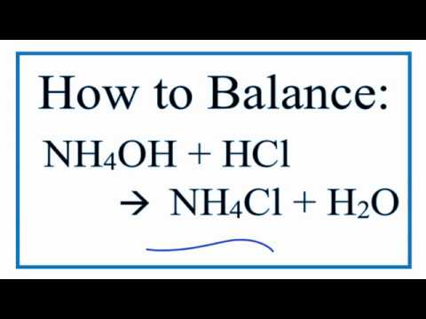 How to Balance NH4OH  HCl = NH4Cl  H2O  YouTube