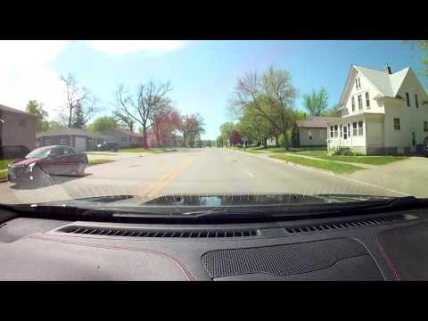 Driving through Algona Iowa.