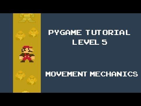 Pygame Tutorial - 5 - Movement Mechanics in Game development thumbnail