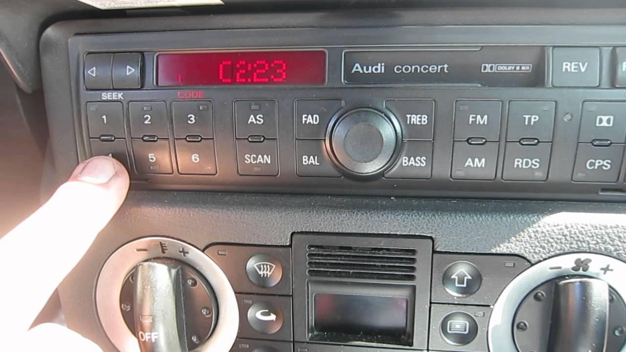 Audi Concert D 233 Bloquer Autoradio Sur Tt Mk1 Youtube
