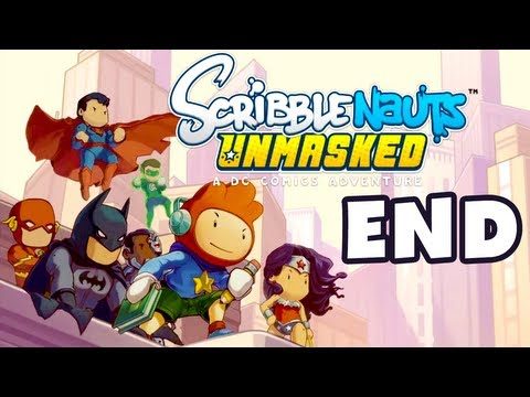 Scribblenauts Unmasked - Gameplay Walkthrough Part 11 - Ending! (PC, Wii U, 3DS)