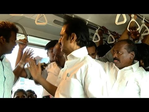 M.K Stalin Slaps a Party Man Who was Disturbing the Chennai Metro Commuters