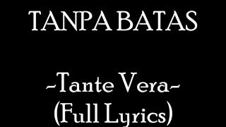 Gambar cover Tanpa Batas - Tante Vera (Full Lyrics)