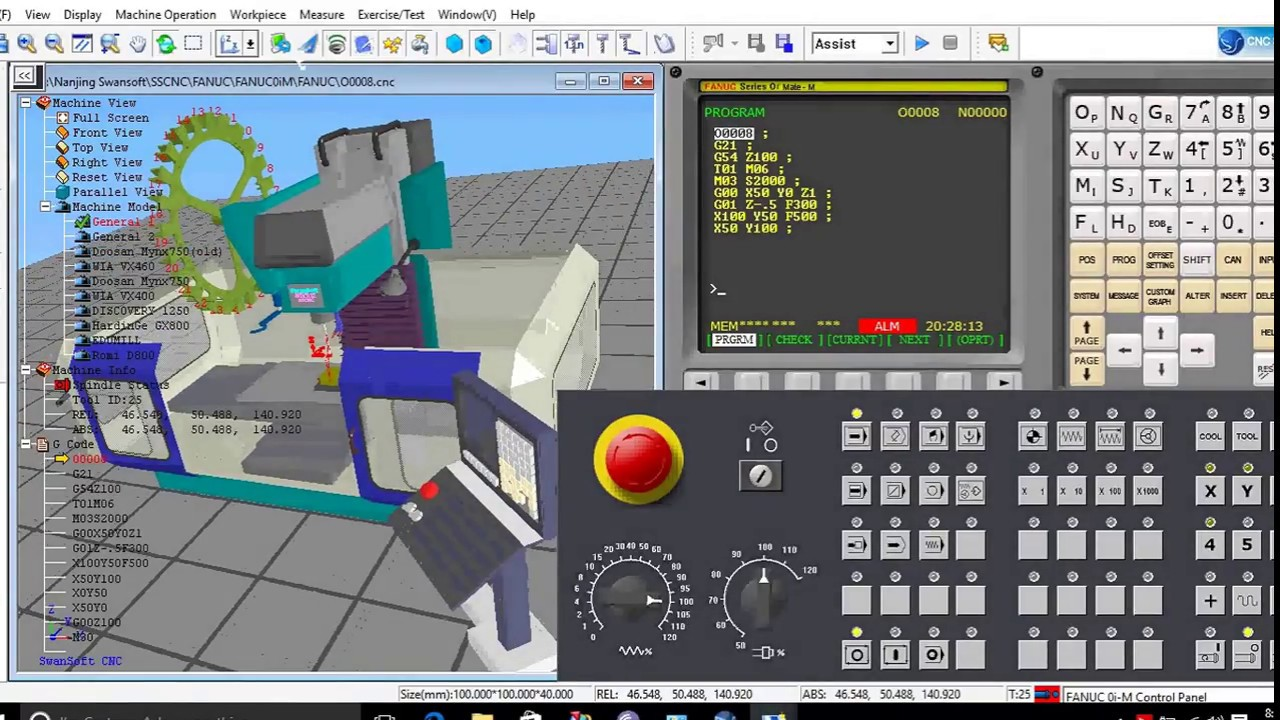 basic cnc programming with fanuc cnc simulation
