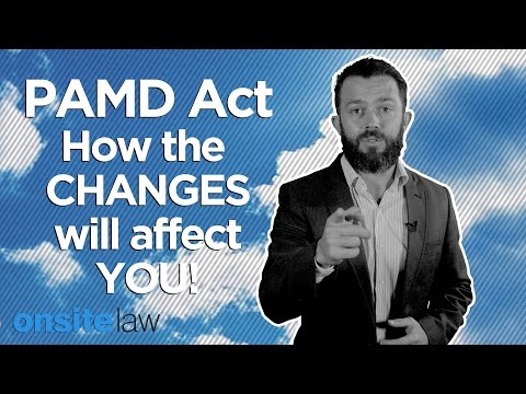 PAMD Act Split (2014) :: How the changes will affect you - Onsite Law