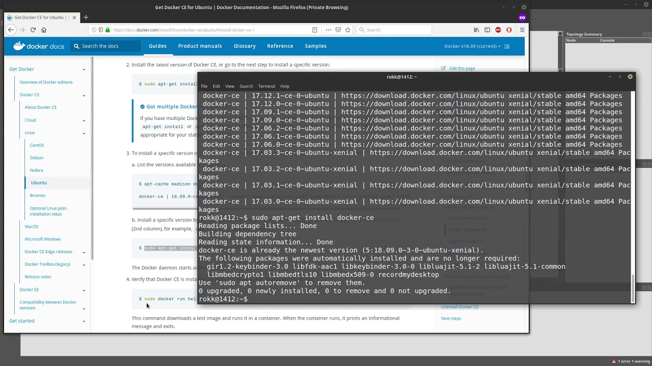 How to install docker and add a docker appliance in GNS3 Part 1 - 2018 -  Full HD
