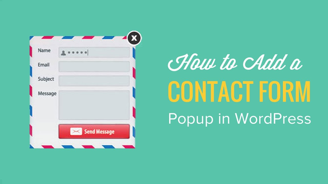 how to add a contact form popup in wordpress youtube