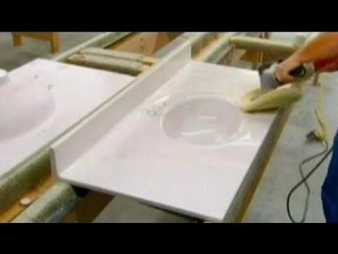 Como é Feito Pias de Mármore Artificial (Resina)