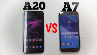 SAMSUNG GALAXY A20 VS GALAXY A7 2017 SPEED TEST