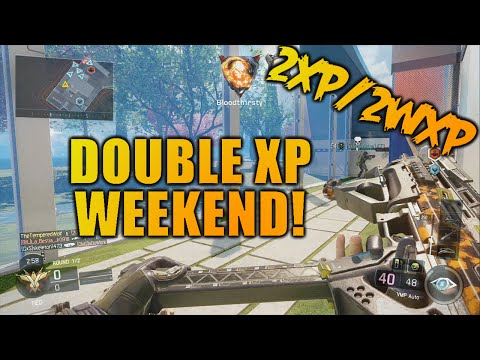 BO3: Double XP/Double Weapon XP WEEKEND! RANK UP FAST! (February 12th - 16th, 2016)