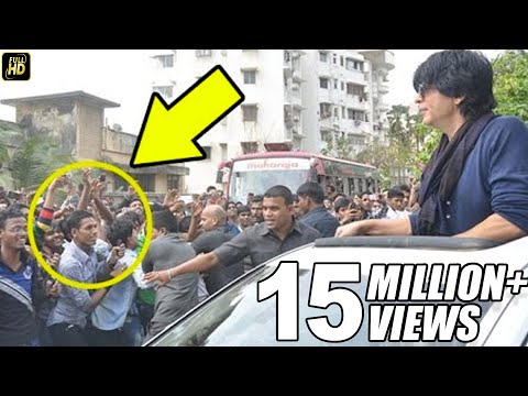 Crazy Fans Attack Shahrukh Outside Mannat On His Birthday