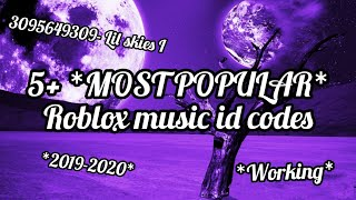 5+ *MOST POPULAR* *REQUESTED* ROBLOX MUSIC ID CODES *WORKING* *2019-2020*