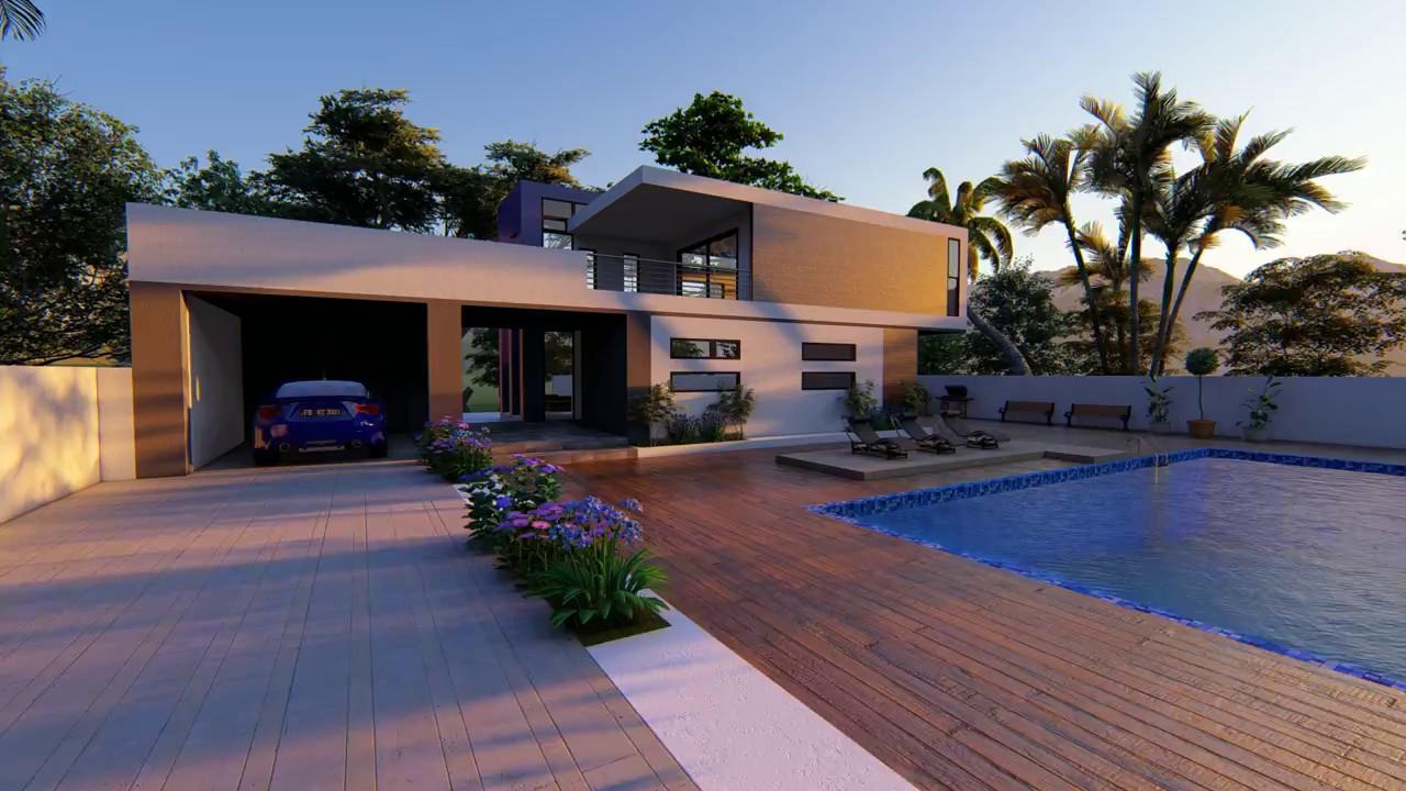 Animation modern house lumion 8