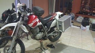 DIY Aluminium motorcycle panniers and Pannier Rack - Yamaha TT600R Belgarda