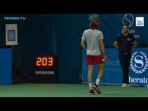 Highlights: Tsitsipas Recovers To Reach Stockholm 2018 Semi-finals